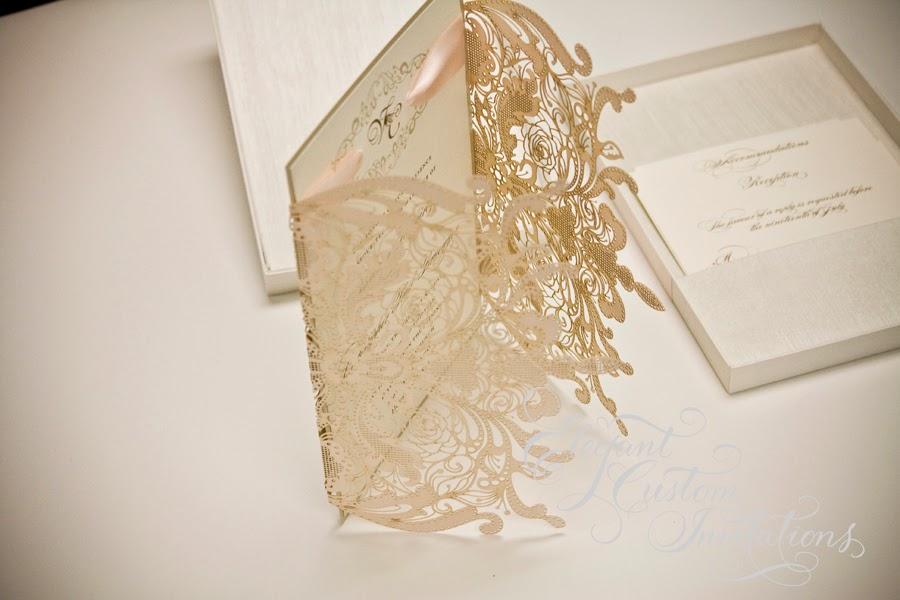 Vanessa U0026 Chrisu0027 Laser Cut Wedding Stationery
