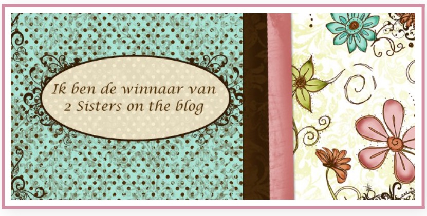 Winnaar bij 2 Sisters on the blog