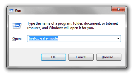 open firefox in safe mode