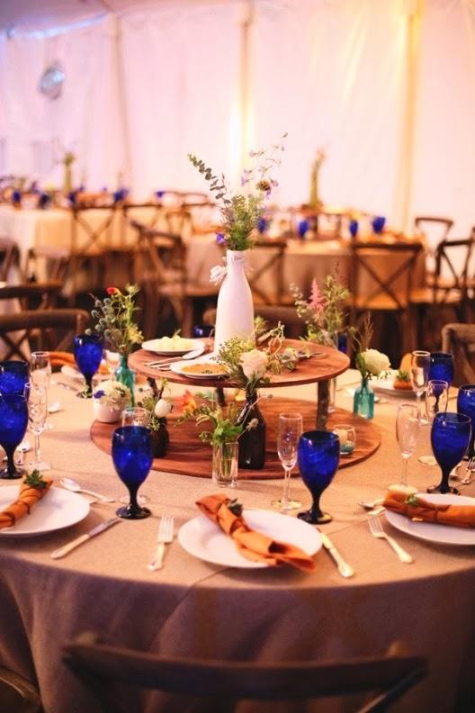decorar mesa con flores silvestres