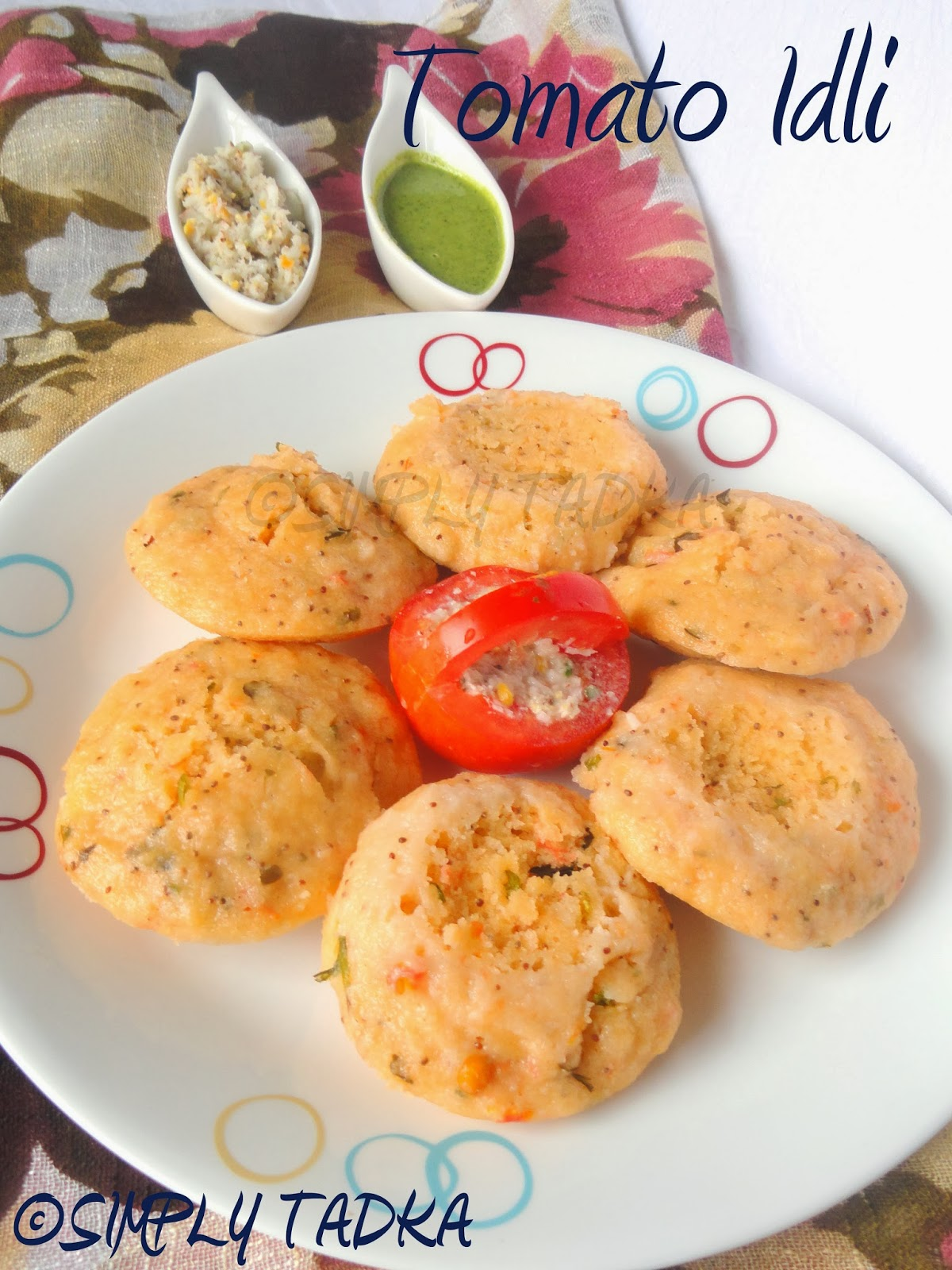 can serve this idli as snack with green chutney or coconut chutney or ...