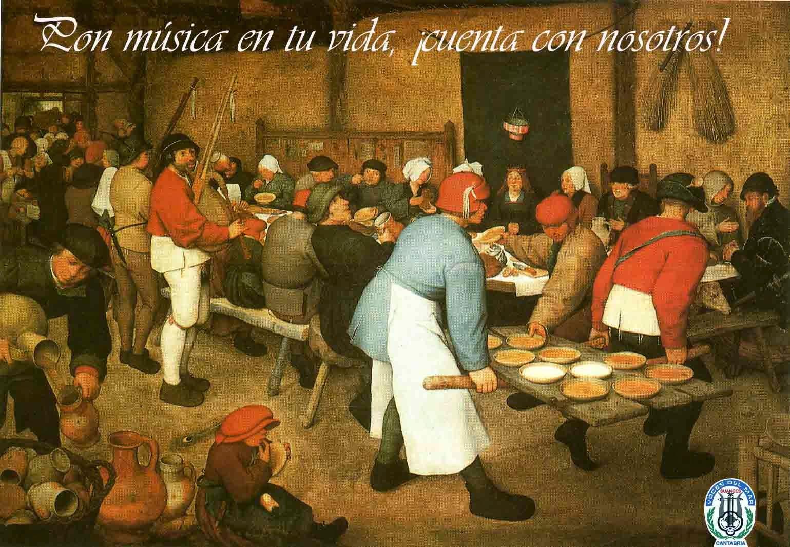 Banquete de boda. Bruegel