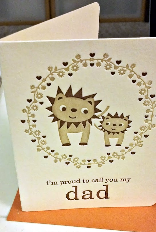 Recycled Cotton Father's Day Card