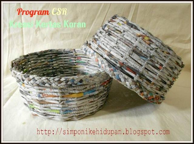 program csr kerajinan tangan kreasi kertas koran