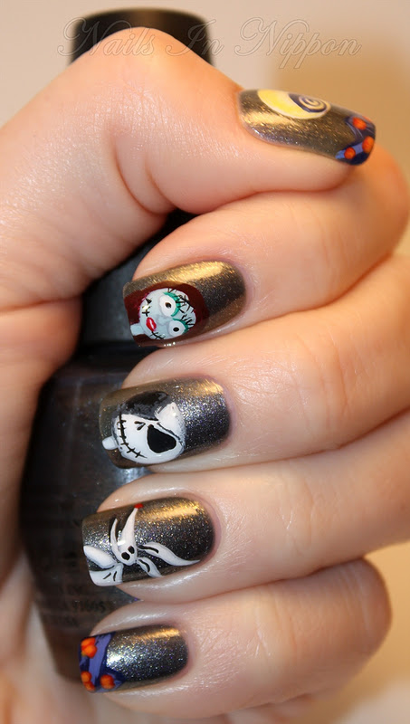 Nails In Nippon: Halloween The Nightmare Before Christmas Tutorial