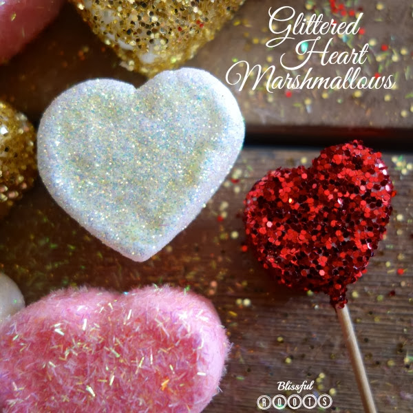 DIY Glittered Heart Marshmallows from Blissful Roots