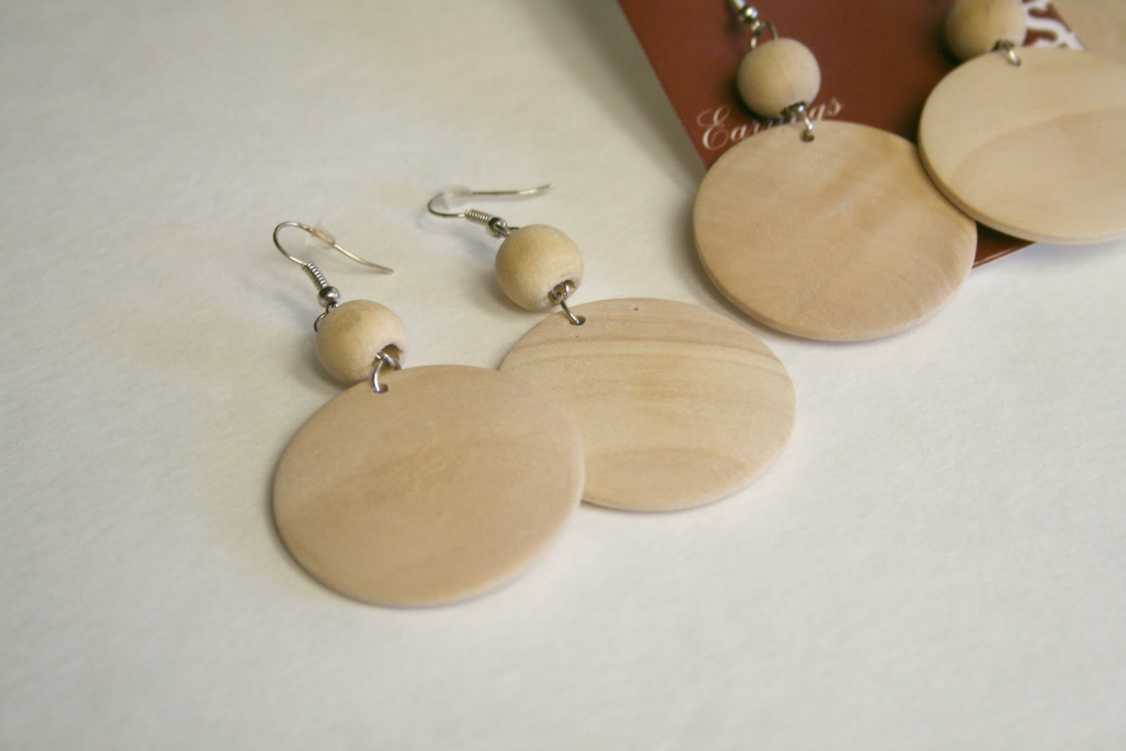 Dollar Craft Neon Wood Painted Earrings Diy Handmade Wooden Earrings