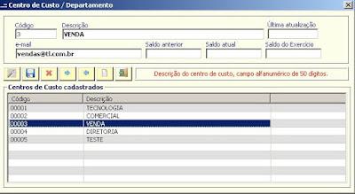 NeXT ERP 1414 Email por centro de custo