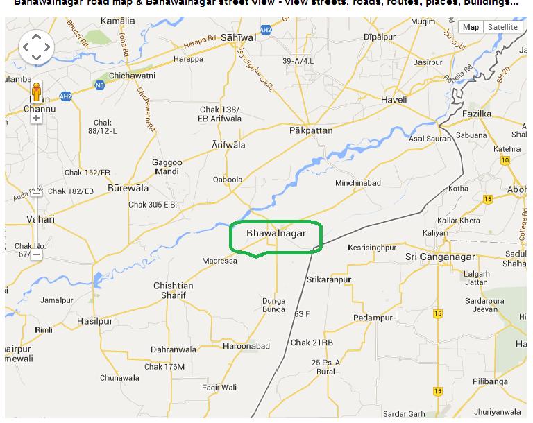 APNA BAHAWALNAGAR BahawalNagar Map - Pakpattan map