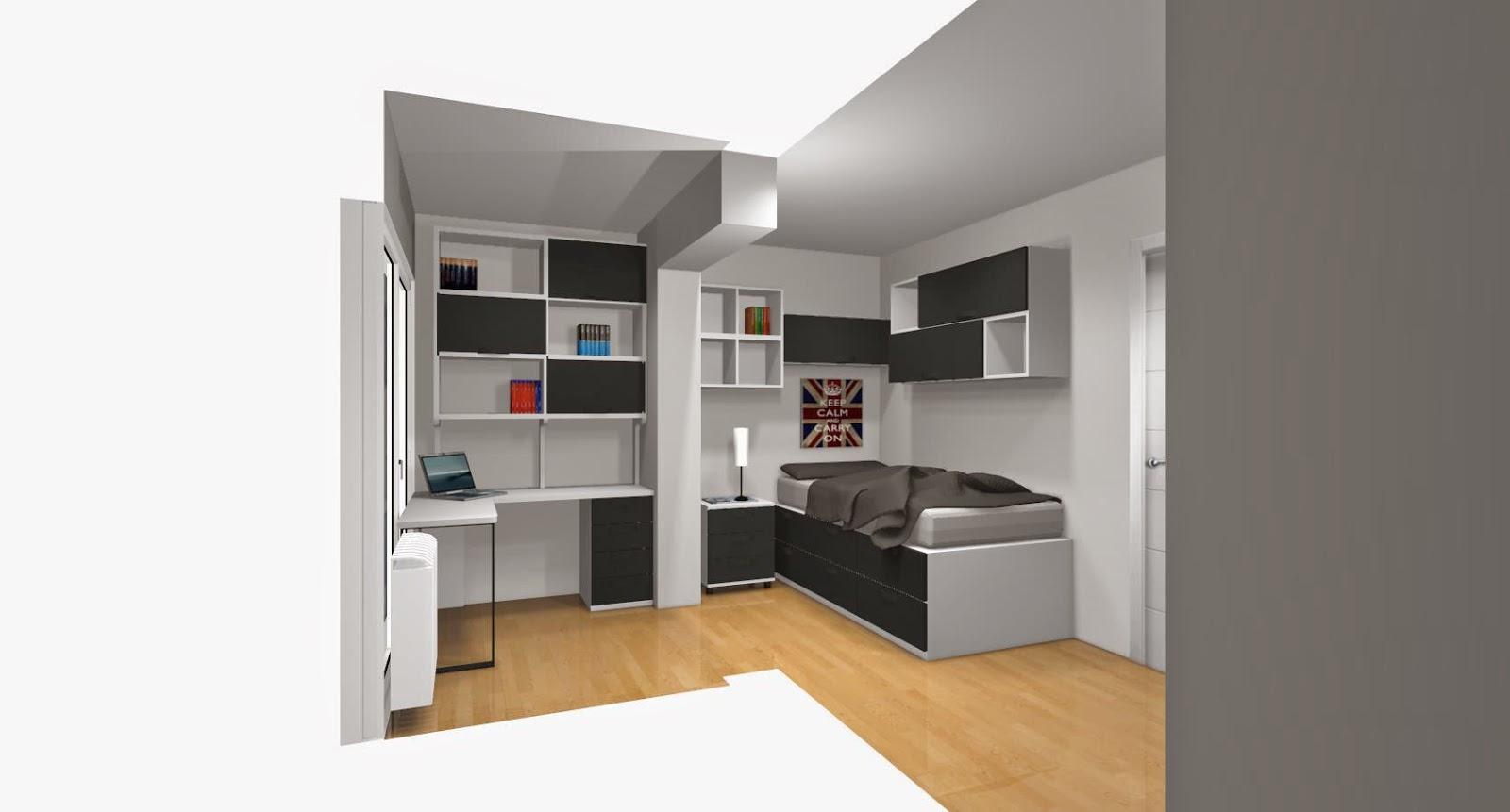 Dise o de cuartos o dormitorios juveniles for Diseno dormitorio