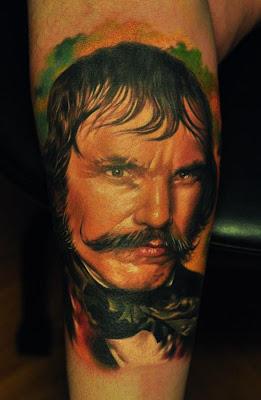 Realistic Face Portrait Tattoo