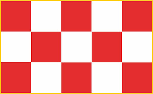 Banda ajedrezada marquesal. Posible bandera estepeña desde 1559.