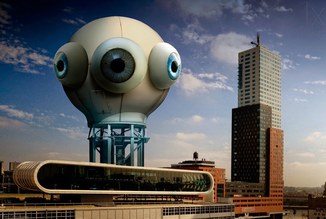 09-Big-Brother-is-Watching-you-Ben-Goossens-Surreal-Photos-of-everyday-Issues-www-designstack-co