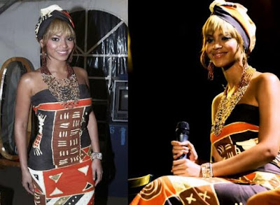 Byonce, stars en pagne, celebs, le pagne, tissu africain, tenue africaine, le wax