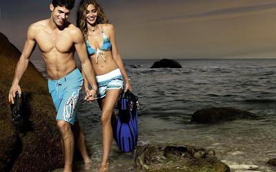 Ana Beatriz Ramos y su novio (Vamos a la Playa)