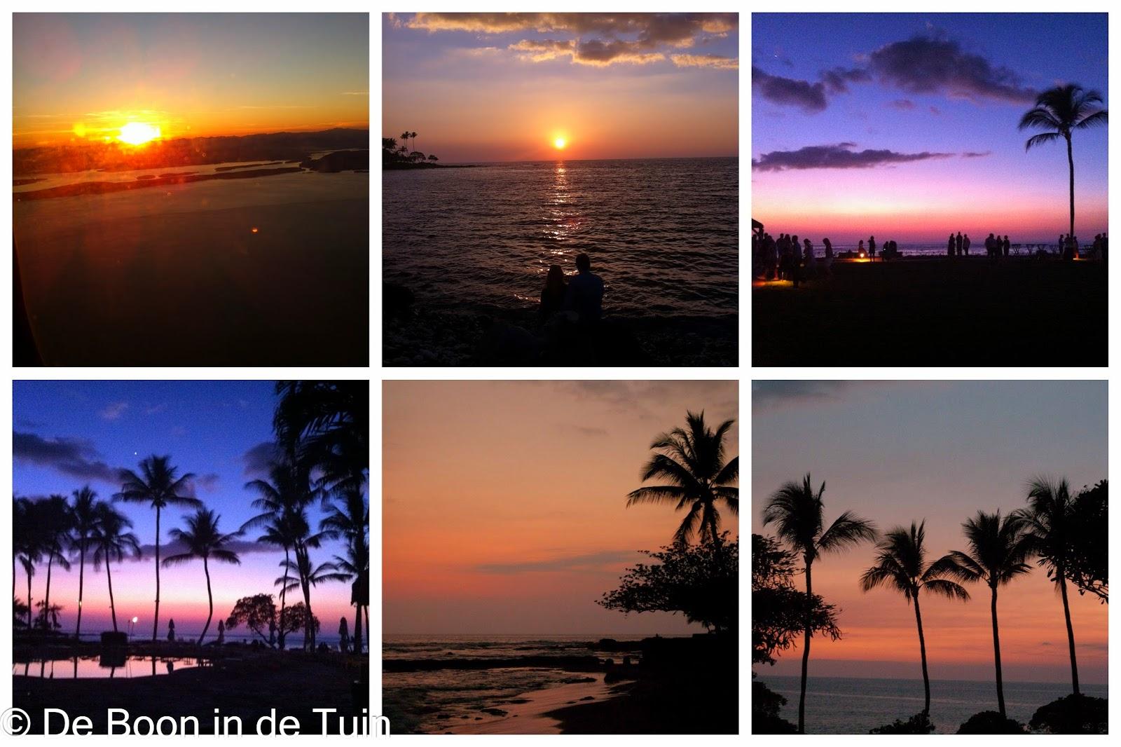 zonsondergang Hawaii