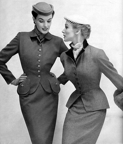 Posh and Poised 50s Suits #vintage #fashion #1950s #style #suit