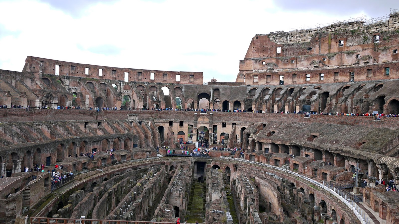 Inside of The Colosseum in Rome Italy