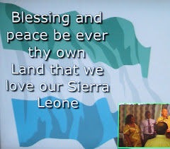 Sierra Leones Flag (Some Words from their National Anthem is Printed on it)