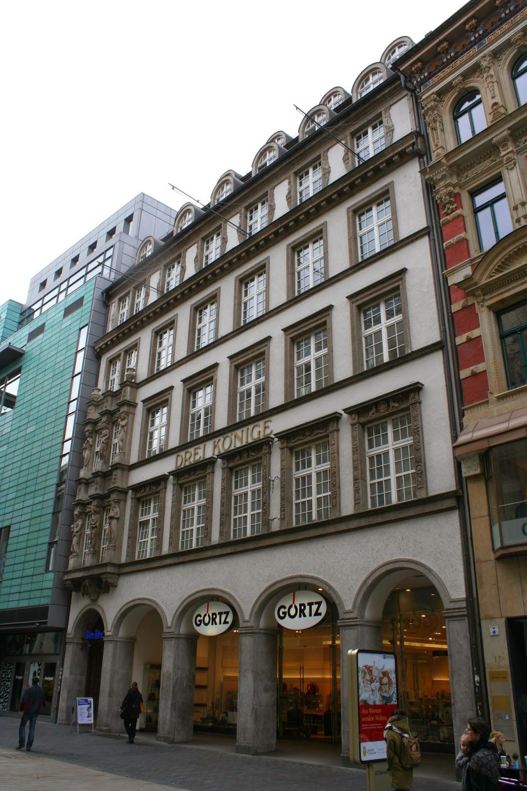 """Das Messehaus """"Drei Könige"""" in der Innenstadt"""