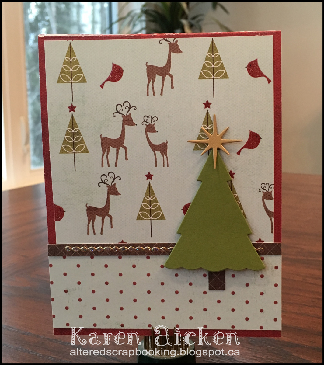 Altered Scrapbooking: Christmas Tree Pop Stand
