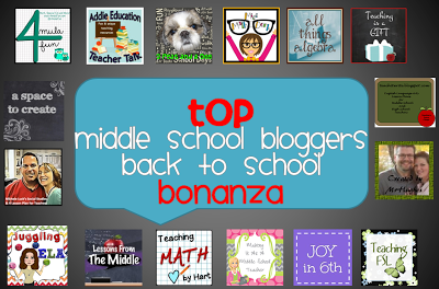 Photo of Back to School Bonanza Middle School bloggers @ Teachingisagift