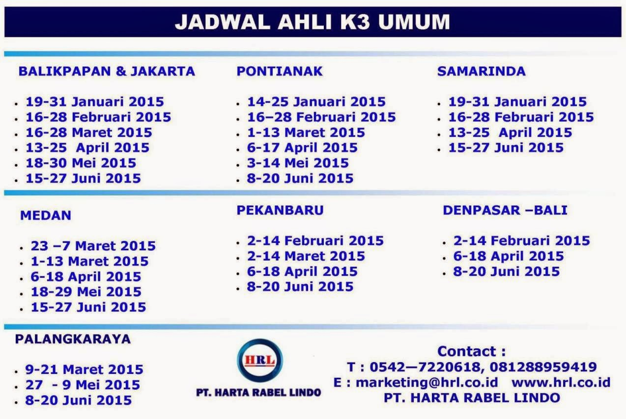 JADWAL AK3 UMUM 2015