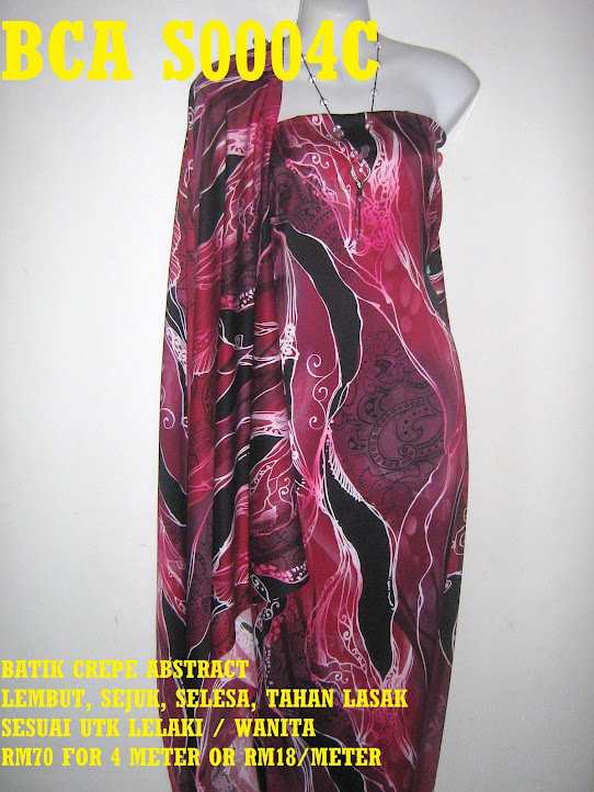 BCA F0004C: BATIK CREPE ABSTRACT,  4 METER