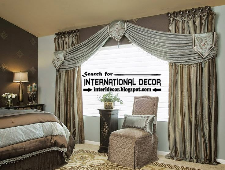 Contemporary Bedroom Curtain Designs Ideas 2015, Scarf Curtains Style