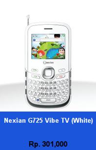 Daftar HP Murah Nexian G725 Vibe TV (White) - wedhanguwuh.com