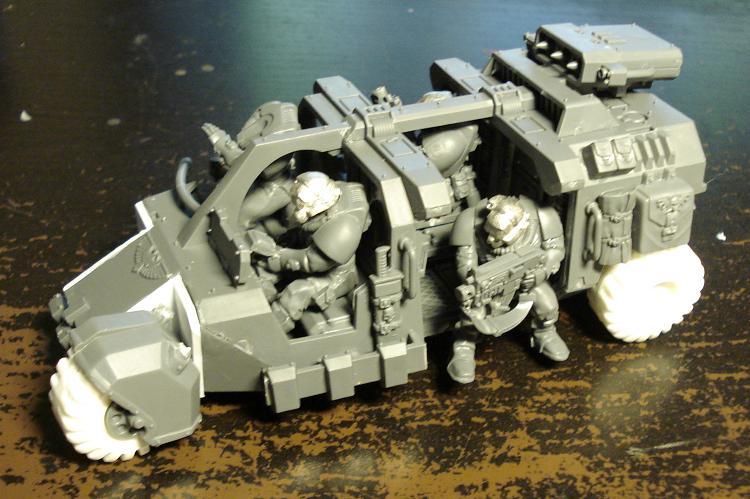 Warhammer 40k Space Marines Land Speeder Storm Cerberus Launcher Bits