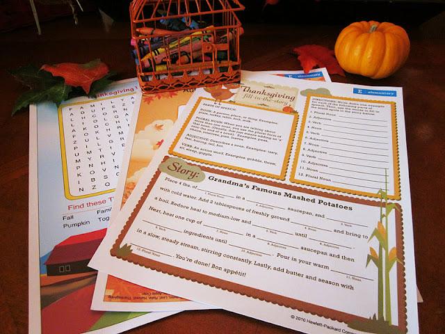 Homespun With Love Kids Table Activities