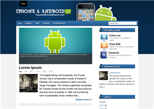 Iphone And Android Blogger Templates
