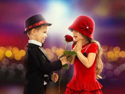 fotos de niño romantico