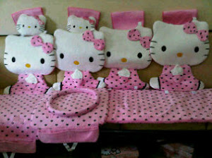 Jok mobil hello kitty