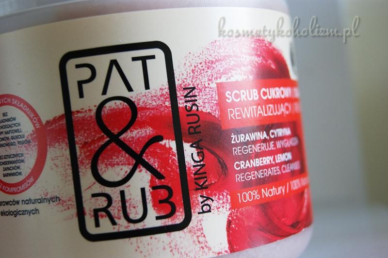 PAT&RUB REWITALIZUJĄCY SCRUB / PEELING CUKROWY
