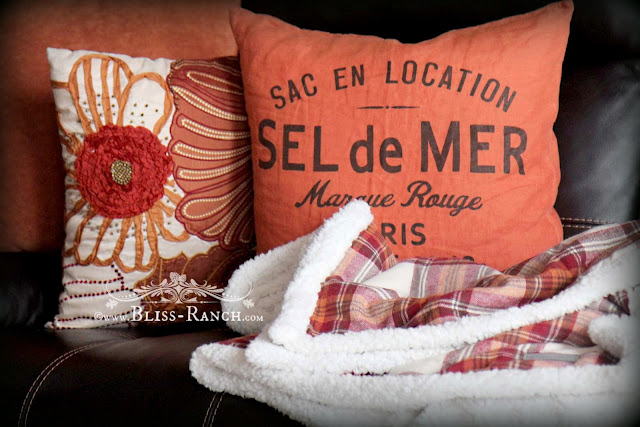 Orange and Plaid Winter Warmth, Bliss-Ranch.com