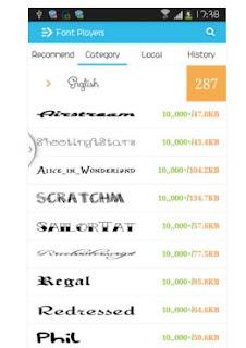 Aplikasi Pengganti Font Android Dengan Font Player