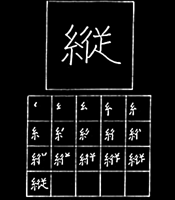 kanji tegak