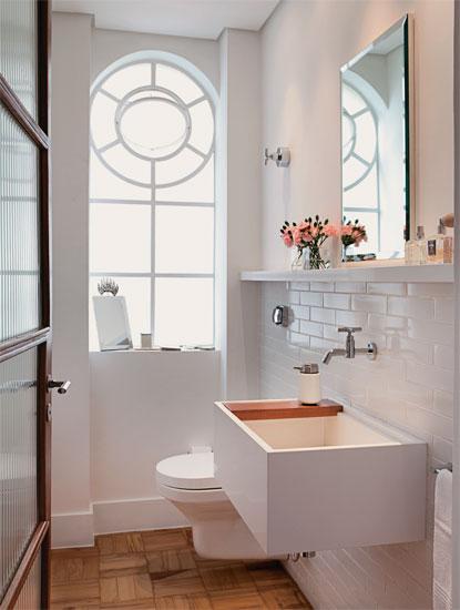 decorar lavabo antigo:Se existisse um lavabo no meu apê, ele poderia ser assim. Fofa demais