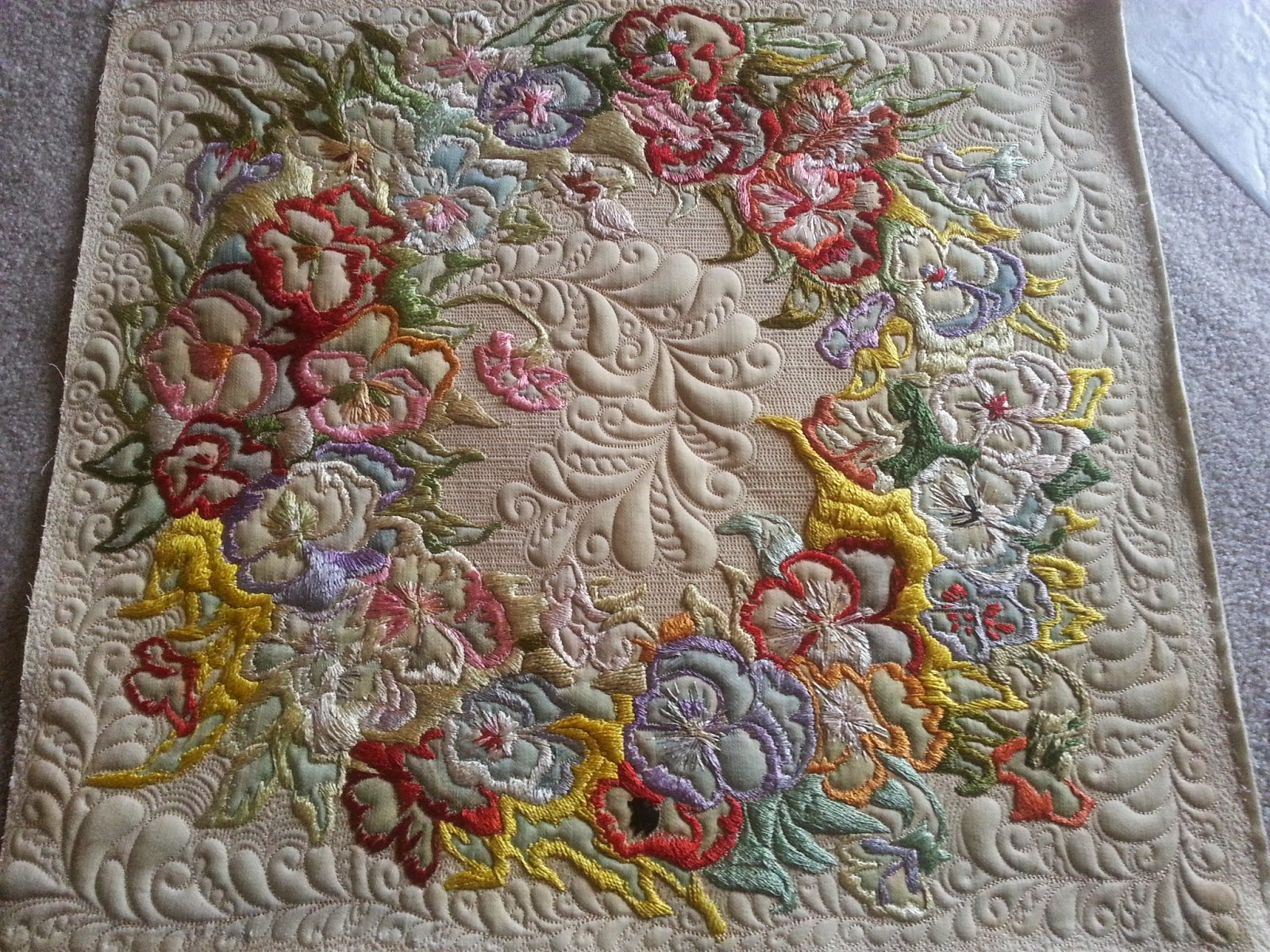 Ideas about embroidered quilts on pinterest quilt