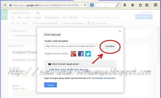 cara menggunakan google formulir untuk membuat contact form-6
