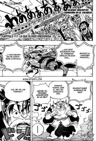 One Piece Manga 717 HQ Sub Español Mediafire/Mega Descarga y Online