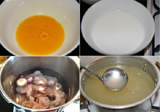 Cách nấu Súp cua trứng gà thật ngon2