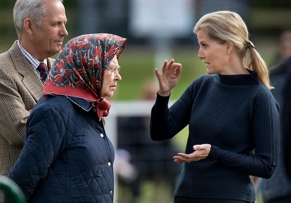 The Queen And Countess Of Wessex, Royal Windsor Horse Show