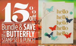 card made with Stampin'UP!'s Bitty Butterfly Punch
