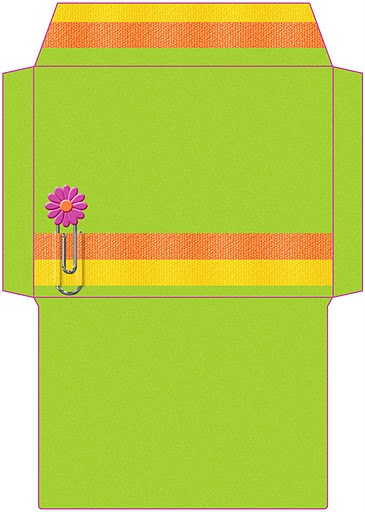 Dibujos sobres verdes para imprimir