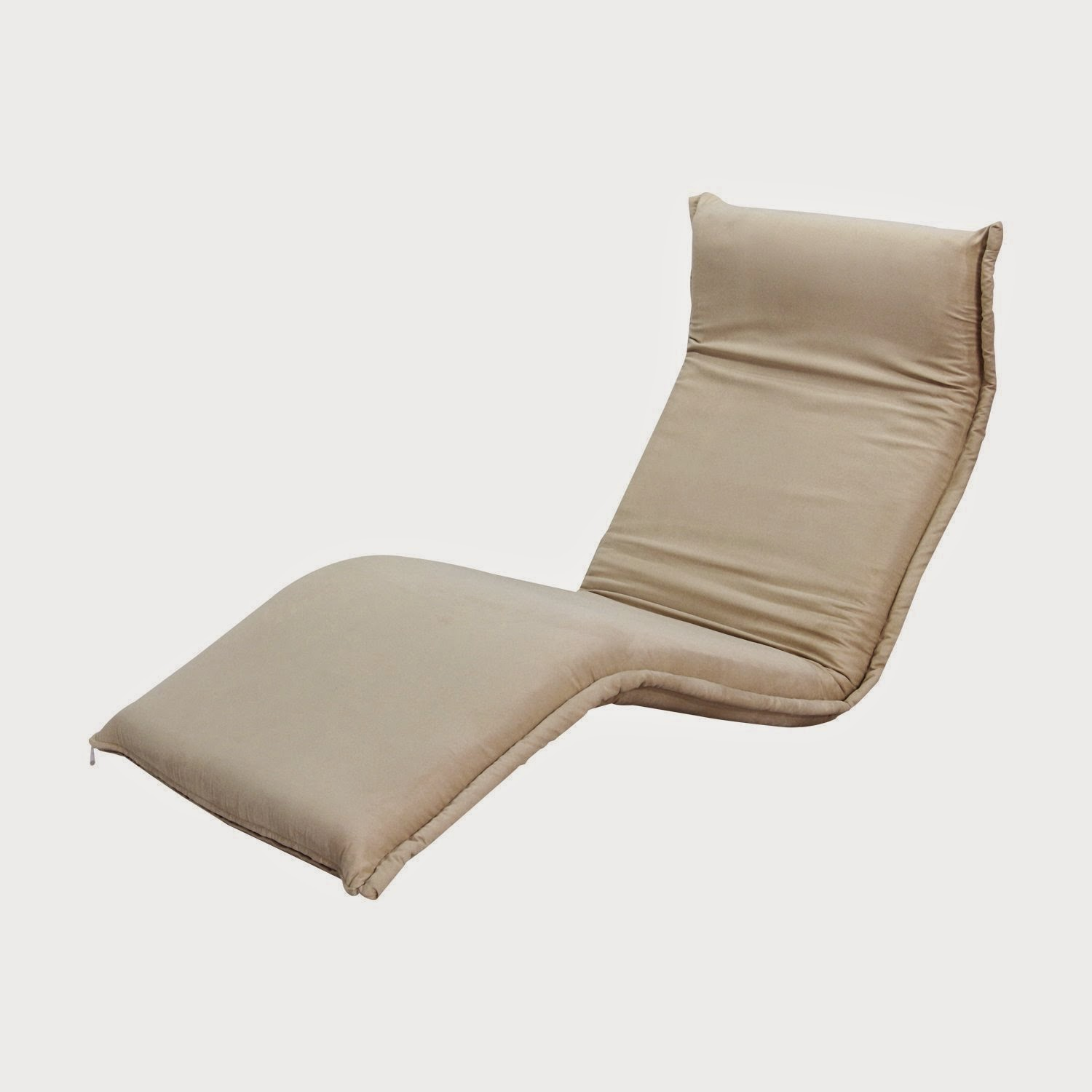 "Sale f 50% Hom 75"" Adjustable Folding Floor Sofa Chair Cream Ou"