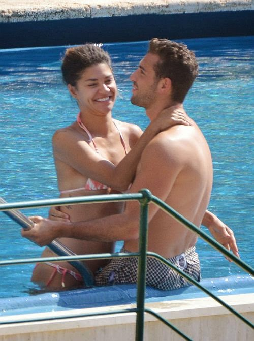 It's a love fest as Jessica Szhor spent her great romantic moment in Portofino, Italy on Wednesday, June 18, 2014 with her newest boyfriend, Tommy Chiabra.