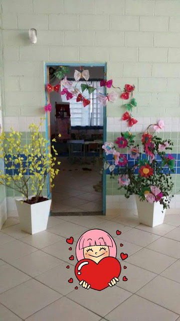Decoração Primaveril Flores Construção Coletiva